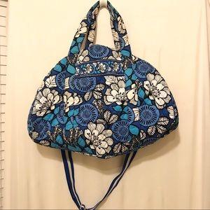 Vera Bradley - blue floral duffel bag